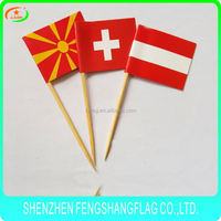 Hanging string flags,quality wood cocktail flag toothpicks flags