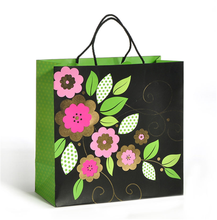 OEM kraft paper fashion boutique shopping bag