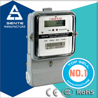 DDS196 Type single phase electricity active watt-hour static energy meter case price of the meter iron railing
