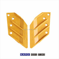 KATO 4 hole Alloy steel excavator bucket side cutter for HD450/512