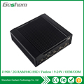 Hot sell industrial black aluminum mini pc with Intel J1900 Quad Core 2.166Ghz 2G RAM 8G SSD