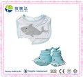 Cute Design Shark Plush Infant Baby Bib and Shoe Socks Set