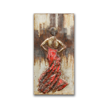 Hot Dancing Lady Iron Painting for Decor