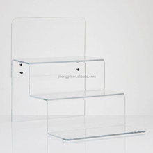 Chinese factory Acrylic Retail Stepped Shoe Display