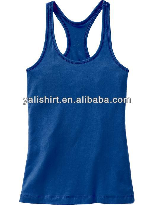 custom plus solid jersey women tank tops