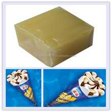 Ice cream packaging hot melt adhesive based on synthetic rubber