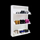 Modern Shoe Storage Cabinet Entryway Shoe Organizer with 3 Rotating-drawers