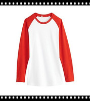 Cheap Plain Cotton Two Color T-Shirt Full Sleeve For Ladies