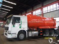 SINO HOWO 14m3 vacuum sewage suction truck / vacuum truck manufacturers germany