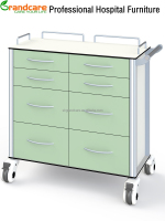 Professional Medical Dressing Trolley Cart WIth Handle G-TN027