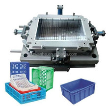 plastic beer fruit vegetable Transfer Crate turnover box injection mould factory in huangyan