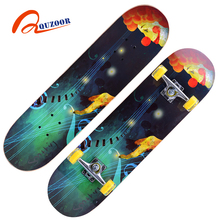 2017 new product fashion 31 inch chinese maple skateboard longboards with best maple deck