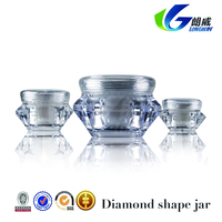 Fashionable design diamond acrylic jar with black lid manufacturer
