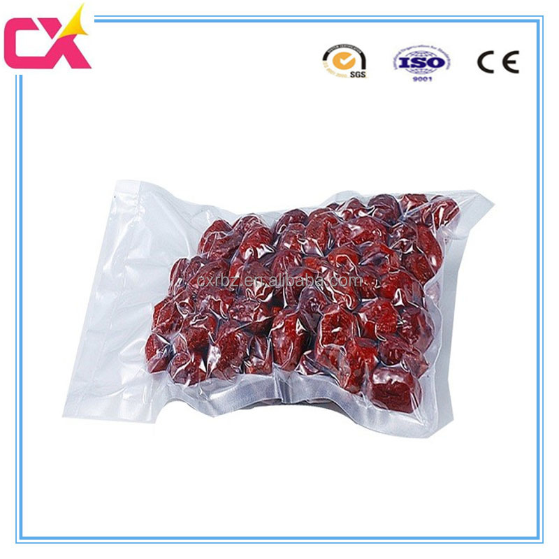 Food vacuum forming plastic packaging pouch bag