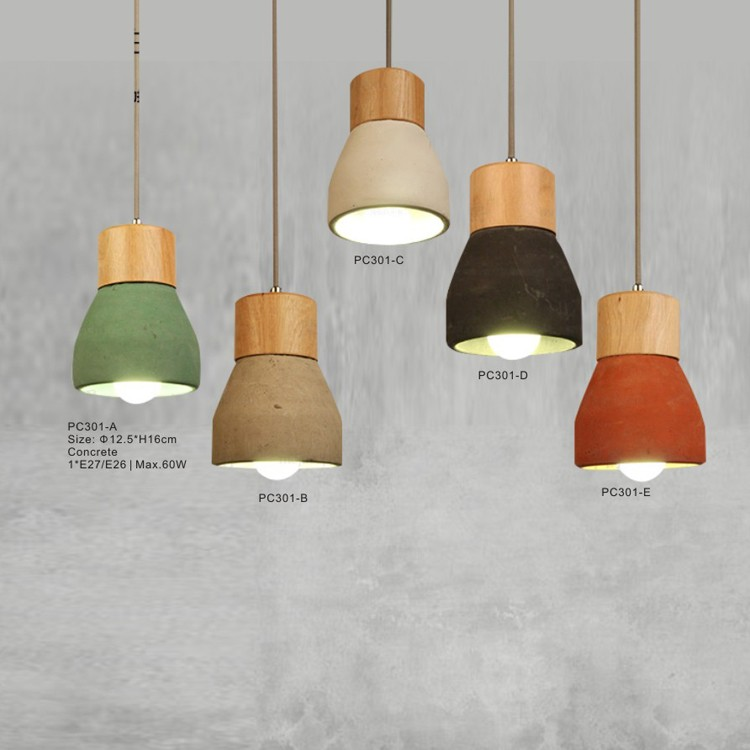 Ceiling Lights Concrete Hanging Light Cement Pendant Lighting Ceramic Chandelier
