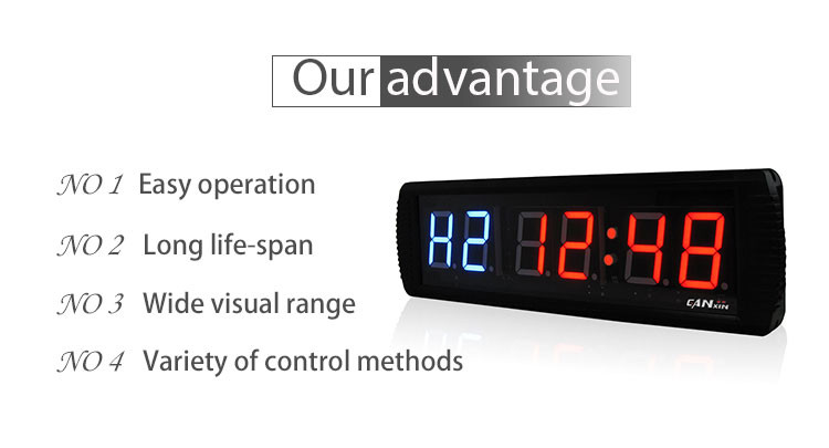 [Ganxin]Hot Selling 3'' Remote Control Led Gym Interval Timer Digital Electronic Exercise Timer