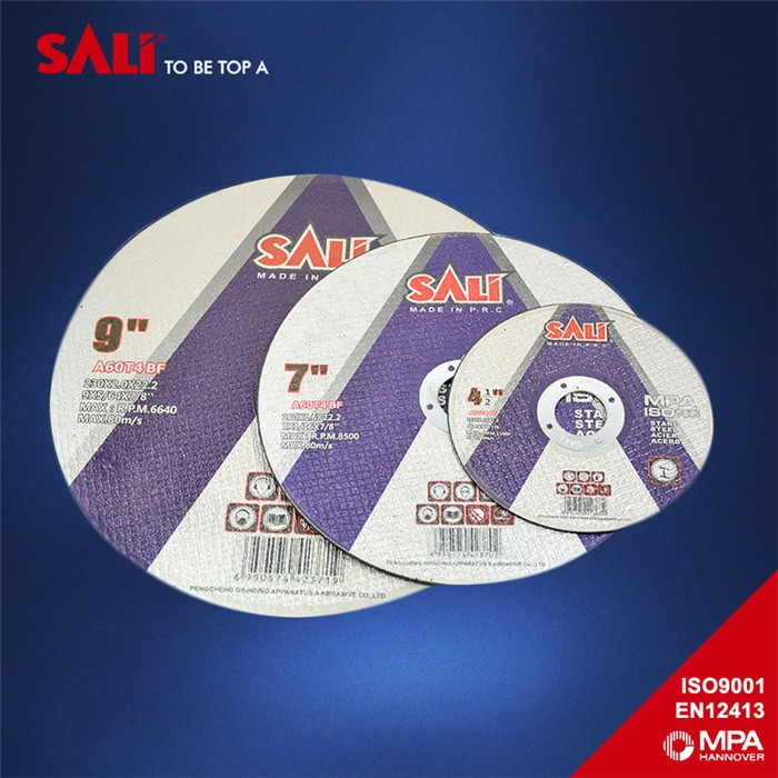T41 Flat Super Thin Resin Bonded Reinforced cutting disc Abrasive cutting wheel