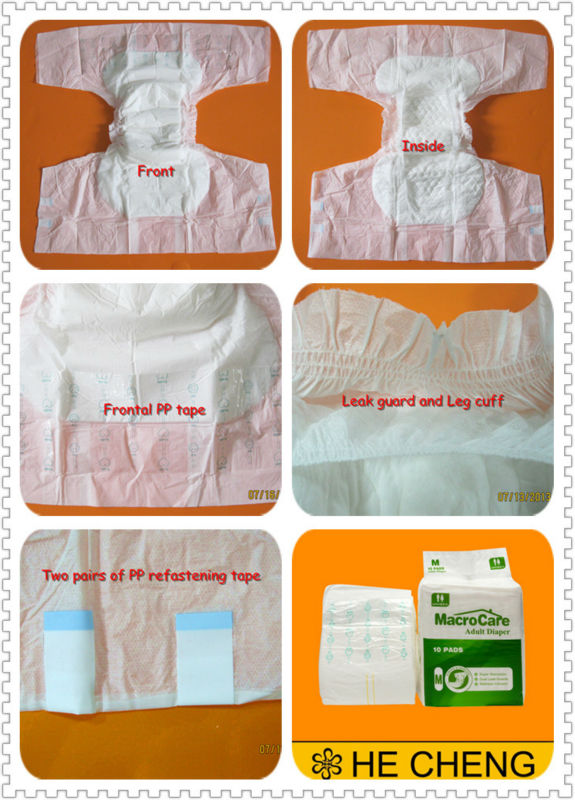China good manufacturer leak guard thick daily diapers for adults
