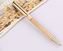 good quality gold clip wood pen for gift