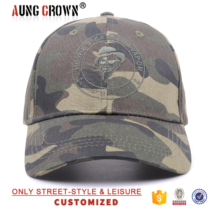 Promotional army camo baseball hats