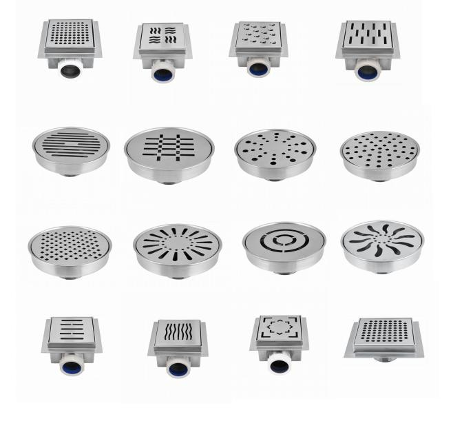 100x100mm Bathroom SS Basement Floor Drain Cover