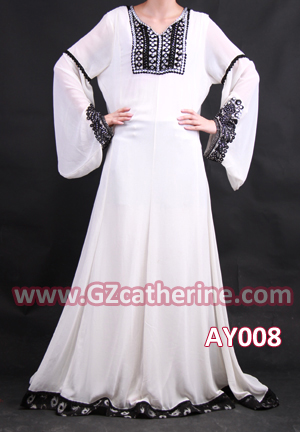 Arabic Long Sleeves Ball Gowns for Muslim Women