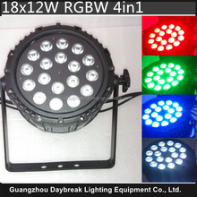Waterproof Led Par RGBW 4in1 Stage Led Light Quad Color Mixing IP65 Outdoor&Indoor Suitable 18x12w Led Par Washing Show Lighting