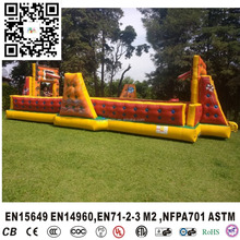 New design inflatable soap football field / soccer football field for sale