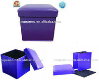 2013 ottoman New Style Morden cheap Foldable folding Portable Storage Ottoman QO-9001-1