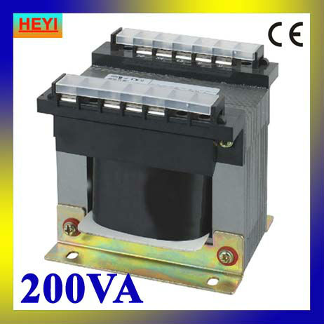 Cheapest price 380V 220V input 6.3V 12V 24V 36V output control transformer BK-200VA small transformer