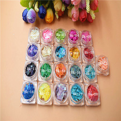 Colored Shell Flakes Hexagonal Glitter Powder Bulk