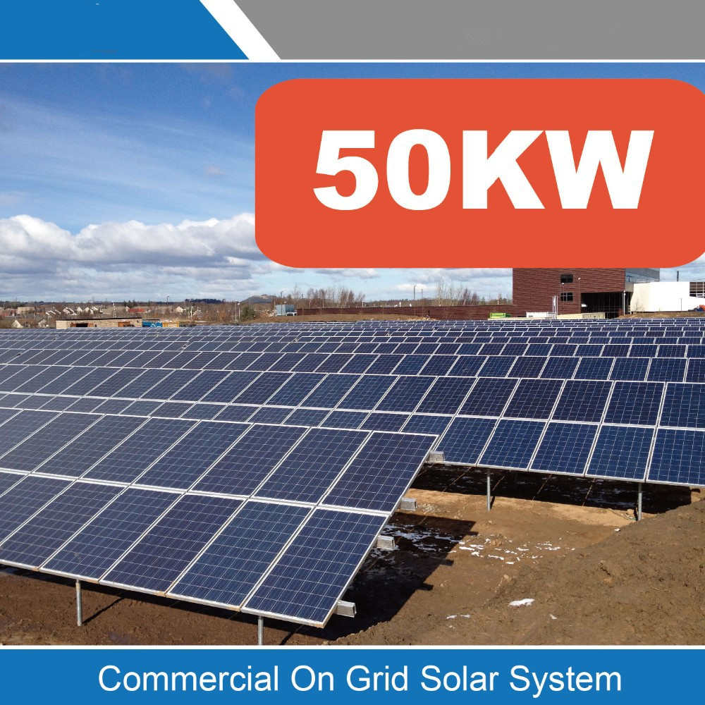 Factory Price 50kW Grid Tie Solar Power System On Grid Solar Generator System