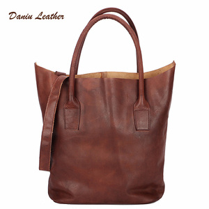 Wholesale Designer genuine leather vintage tote bags women handbags lady
