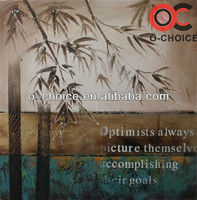 Most popular decorative abstract bamboo art canvas painting