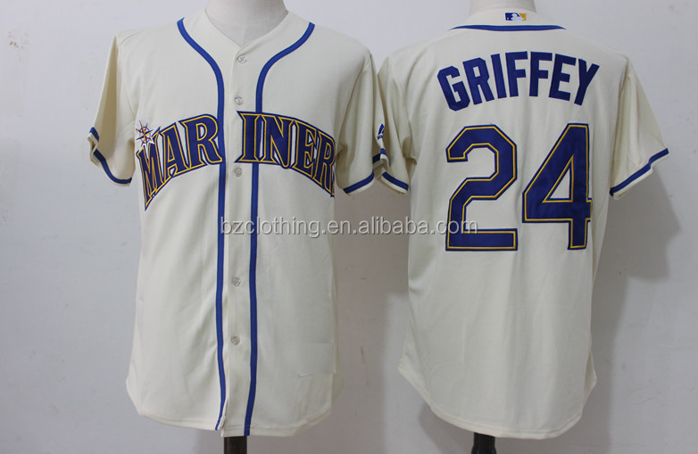 Men's Seattle Mariners Ken Griffey Jr. Alternate Cream Official Cool Base Replica Jersey