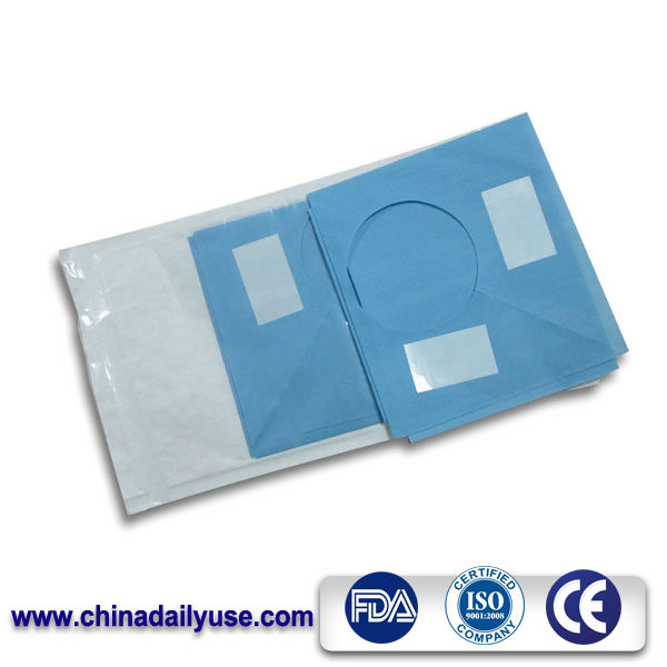 operative environment surgical drape with a transparent pouch for the body fluid