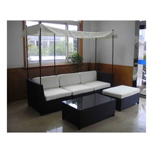 Image of Chinese sofa set of living room rattan furniture