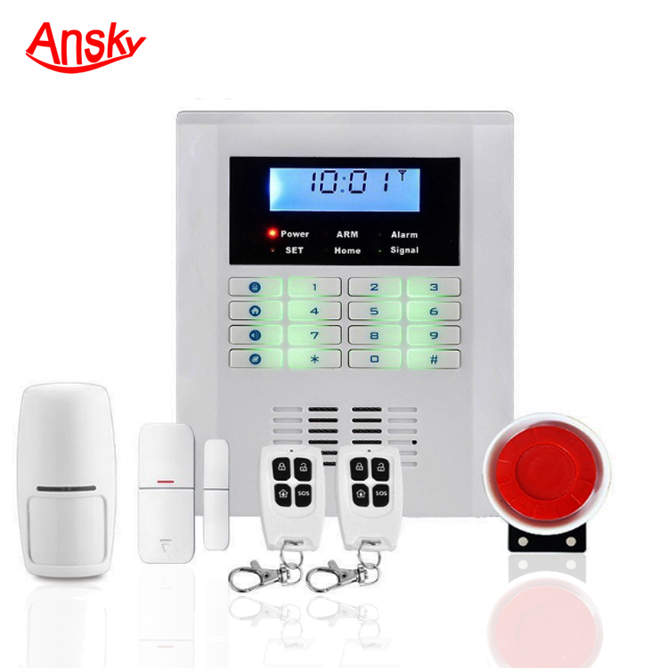 Dual Network GSM+PSTN Wired Wireless Home Burglar Security Alarm System