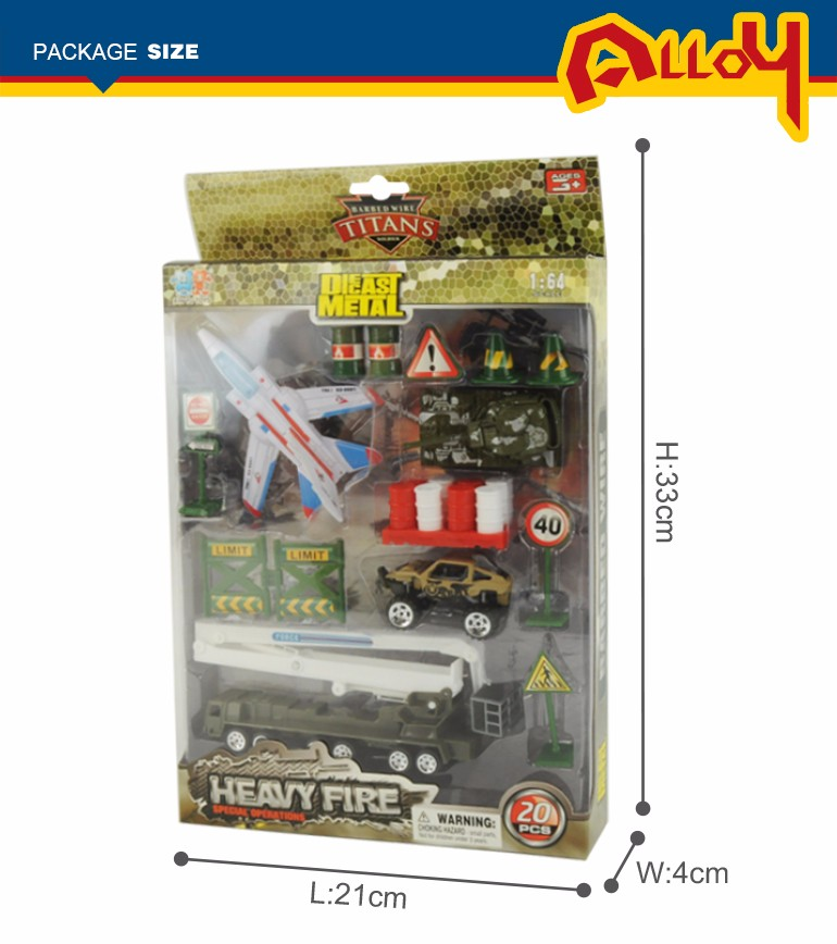 Diecast military play set model fighter plane toy army trucks for online sale