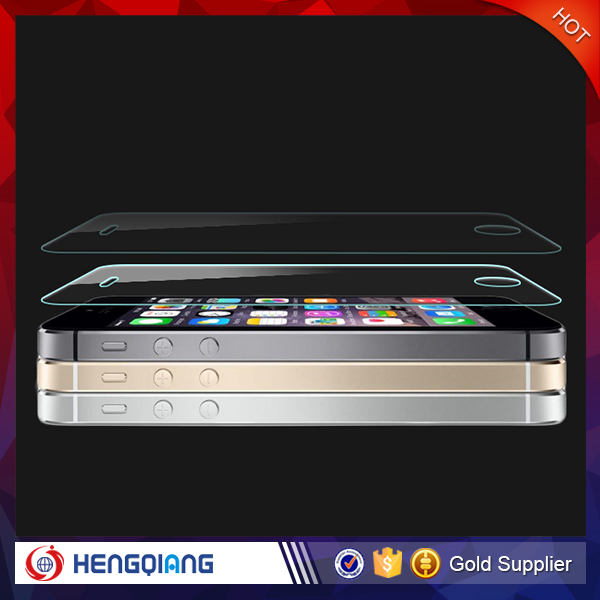 99% clear screen protector for iPhone 5 5s high quality 9H tempered glass film for iPhone
