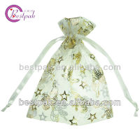 2013 cute star pattern fabric organza bag/cell phone cover