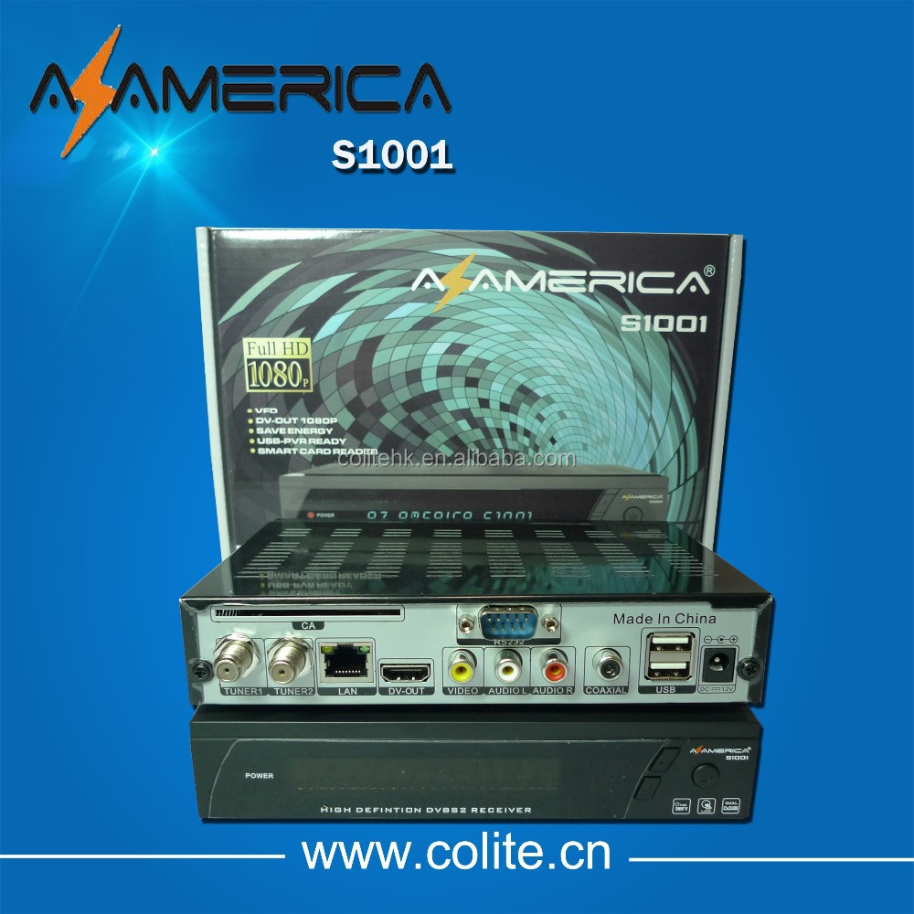 Azamerica S1001 hd/Az S1001 2014 New Receiver Satellite With SKS And IKS Account For Sourth America
