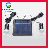 easy take double bulb solar energy 2.5w street led light