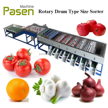 Garlic Sorter Machine with Cleaning Brsuhes, Garlic Onion Sorting Machine