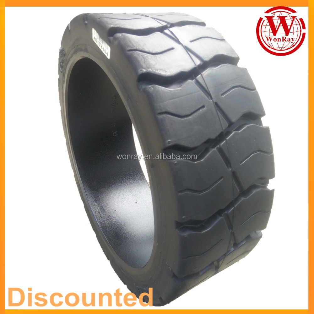 4 wheel electric moving cargo cars solid tyre 18x6x12-1/8 14x4-1/2x8 for toyota forklift 7FBCU15