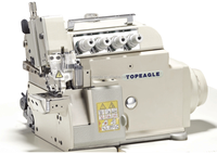 TOPEAGLE TN-5114EX 4-thread small cylinder bed industrial overlock sewing machine for sale