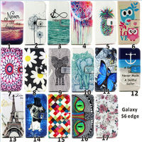 2015 new products color print design ultra thin PU+TPU wallet case for samsung galaxy s6 edge Wholesale factory price