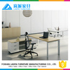 Simple office furniture design MFC board executive office table with aluminium frame LB-02