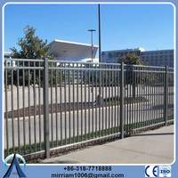 Rail 40*40mm square *1.6mm wall thickness antique pvc wrought iron metal garden fence panels