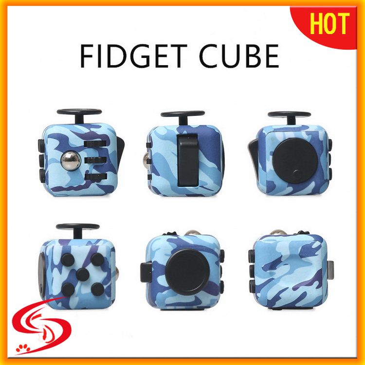 new arrival Popular 6 Sided fidget cube desk Fidget Toy Anti stress cube for Adults and magical cubeor Fidgeters W01B051